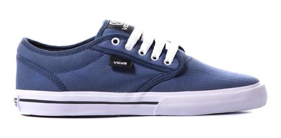 Zapatillas Vicus Folk Lona Azul Indigo
