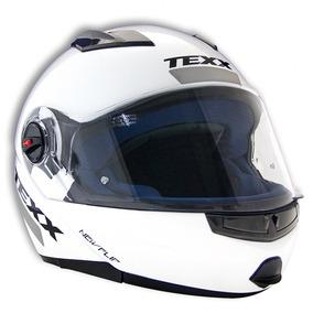 Capacete Moto Texx New Flip Branco Articulado Robocop