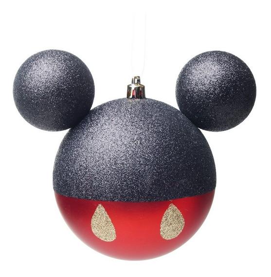 Bola P/ Árvore De Natal Mickey 6 Pçs 6cm Vermelho
