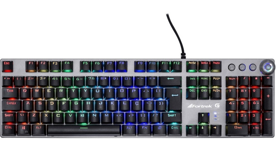 Teclado Gamer Mecânico Fortrek Pro K7 Plus Abnt2 Rgb C/ Nota