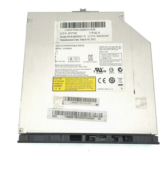 Drive Gravador Cd Dvd Sata Notebook Lenovo Ideapad G460