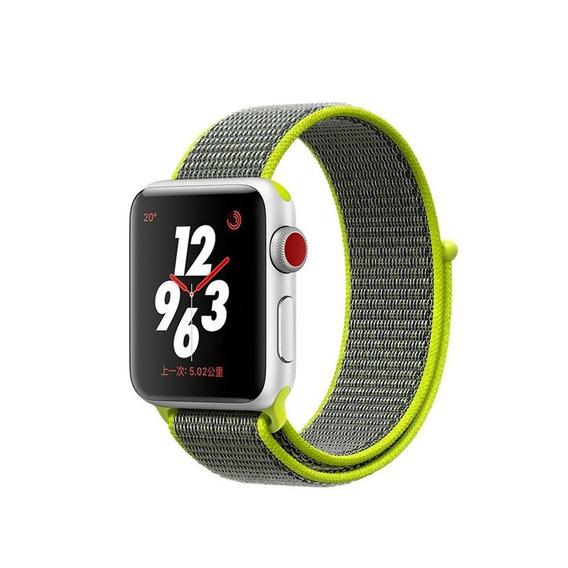Pulseira Nylon Loop Apple Watch 1 2 3 E 4 42mm Amarelo