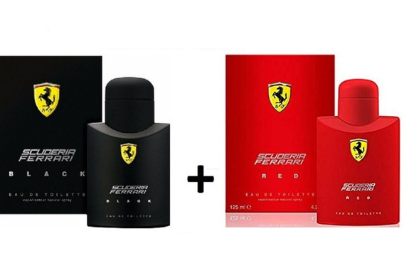 Kit C/2 Perfumes: Ferrari Black+ Ferrari Red 125ml Originais