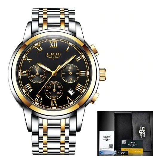 Relógio Masculino Quartzo Original Lige