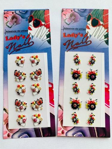 1000 Peliculas Kit Adesivos De Unha 3d Lady Nails