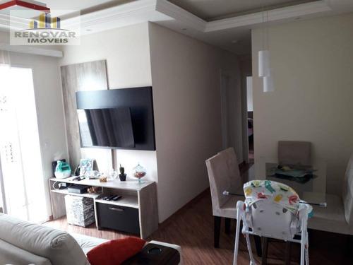 Apartamento Com 2 Dormitórios À Venda, 70 M² Por R$ 320.000,00 - Parque Santana - Mogi Das Cruzes/sp - Ap1058