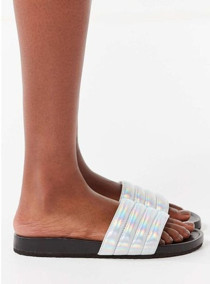 Urban Outfitters Quilted Pool Slide Us 6 Sandalias Piscina
