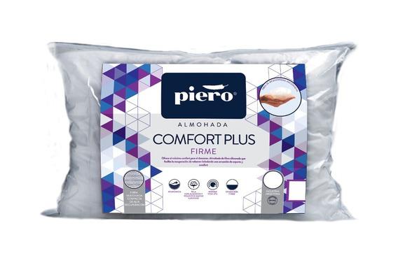 Almohada Piero Comfort Plus Firme 90x50 Fibra Siliconada