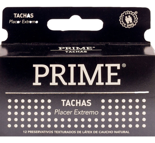 Imagen 1 de 2 de Preservativos De Látex Prime Placer Extremo Tachas X 12 Un