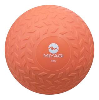 Balón Pelota Medicinal C/ Peso Inflable 6 Kg Salmón Miyagi