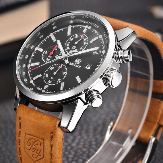 Relógios Homens Marca De Luxo Cronógrafo Original Top