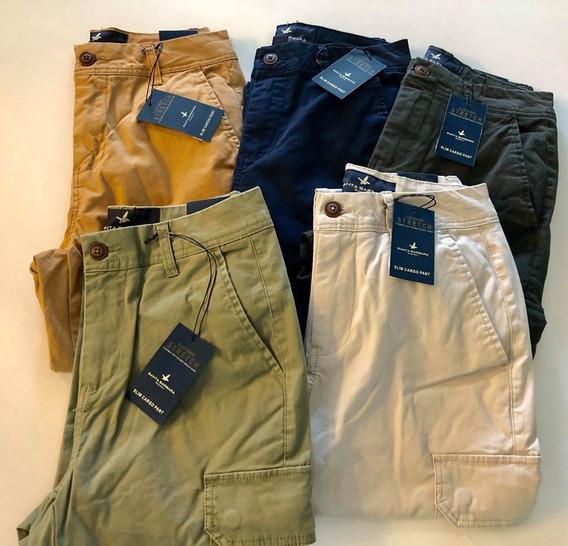 Pantalon Cargo Santa Barbara C/ Puño Original Colores Varios