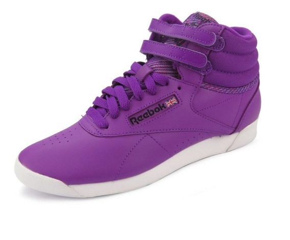 Tênis Reebok Classics Feminino Freestyle Hi Lilás - Bs7950