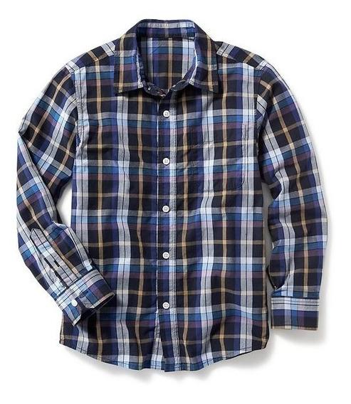 Camisa Old Navy Niño 778002-07-1 Azul Marino Con Cuadros