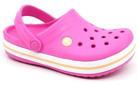 Clog Crocs Infantil Crocband Kids Original Pink Rosa