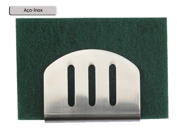 Suporte Porta Esponja Em Inox 304 P/ Pia - Fixação Ventosa P