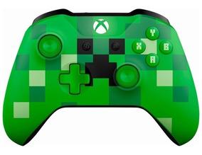 Controle Xbox One S Minecraft Creeper S/ Fio Microsoft Verde