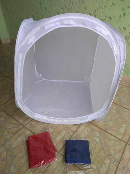 Tenda Pra Mini Estúdio Fotográfico Barraca Cabana 60cm Usado