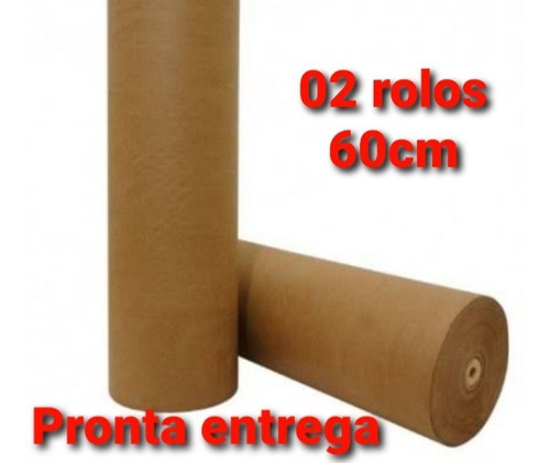 Imagem 1 de 4 de 02 Papel Semi-kraft Rolo 60cm 2kg Cada- Embalagem Caixa