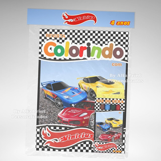 20 Kit Colorir Hot Whells Revista Arte Xadrez Giz Lembrança