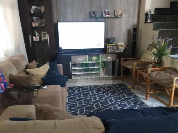 Sobrado 3 Dormitórios, Na Vila São Jorge, Em São Vicente, 129 M² De Área Construída - Ca0725