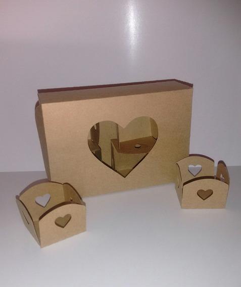 Kit Com 10 Caixas Para 6 Docinhos Com Forminhas Inclusa