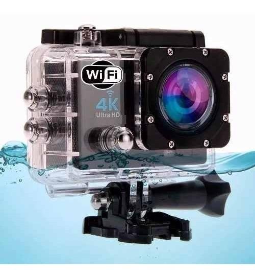 Kit Camera Filmadora Esportiva Hd 1080p + Carregador Bateria
