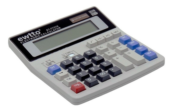 Calculadora Eletrônica 12 Dígitos Ewtto Et-c7210