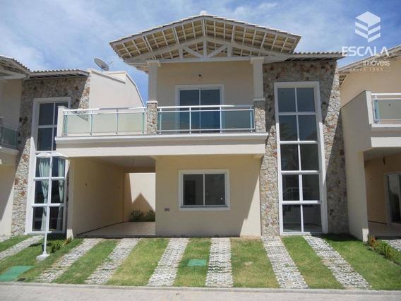 Casa Duplex Com 4 Quartos À Venda, 148 M², Área De Lazer, Financia - Lagoa Redonda - Fortaleza/ce - Ca0126