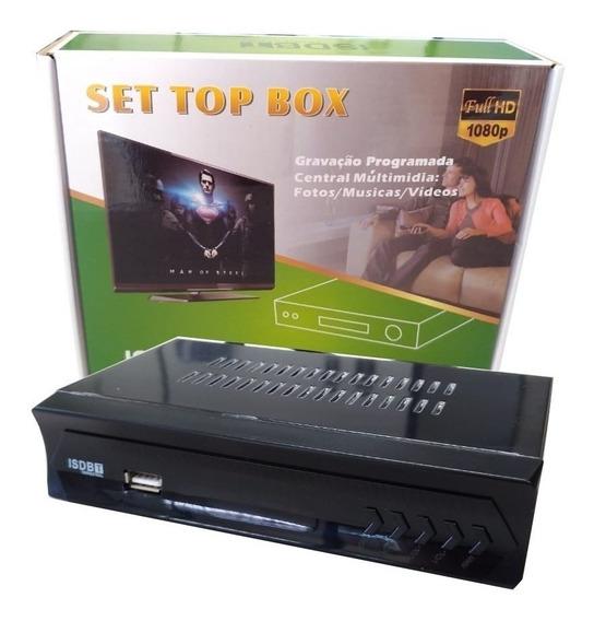 Conversor Digital Completo Tv C/ Cabo Hdmi E Rca