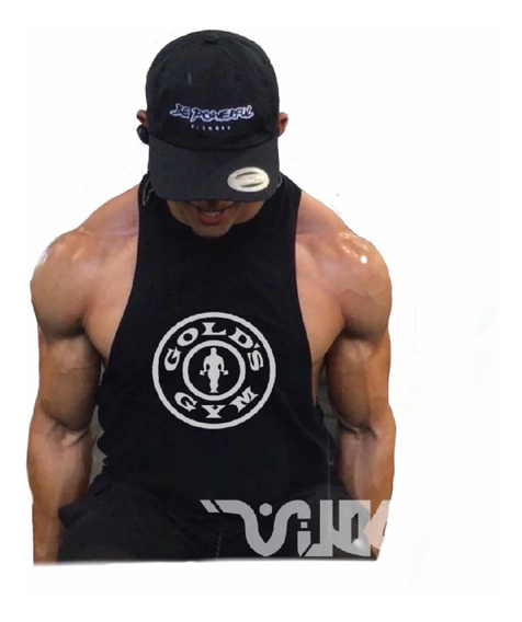 Camisa Corte Libre Gym Para Hombre Espalda Recta