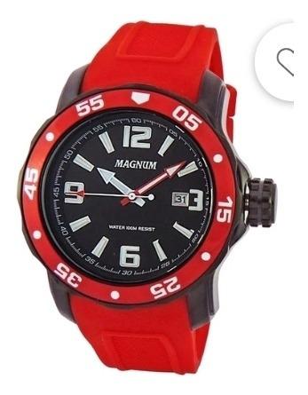 Relógio Magnum Vermelho Novo Última Peça