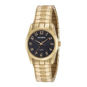 Relógio Dourado Mondaine Feminino 53631lpmvde1 Original