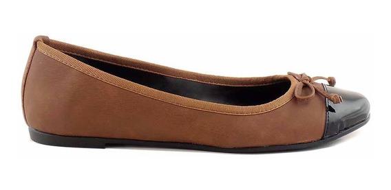 Chatita Zapato Mujer Cuero Briganti Mocasin Goma Mccha2965