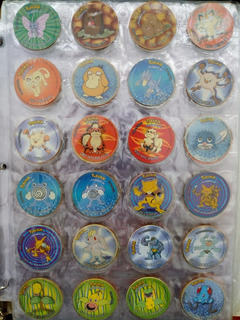 Coleccion Completa De Chipi Taps Tazos Pokemon