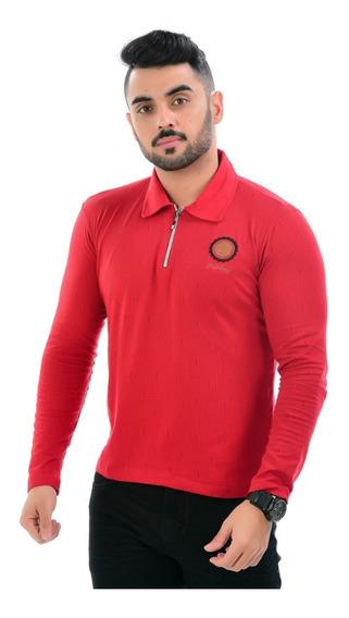 Kit 3 Camiseta Polo Blusa Camisa Manga Longa Masculina