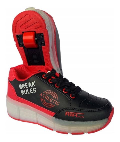 Zapatos Con Rueda Y Luces Led Recargable