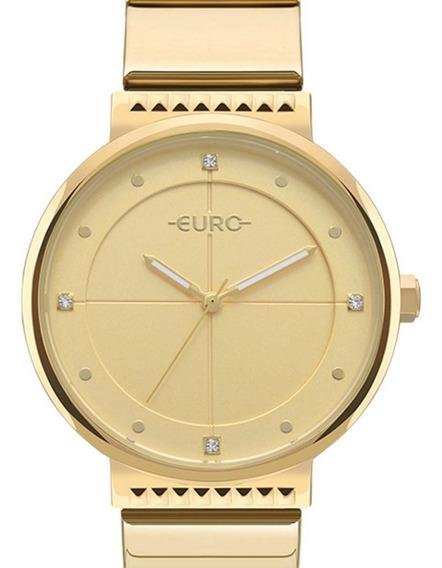 Relógio Euro Feminino Spike Slim Eu2035yoa/4d Dourado C/ Nfe