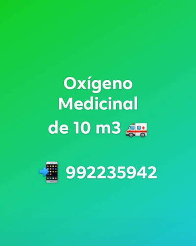 Balon De Oxigeno Medicinal 10m3 Lleno Con 3,000 Psi