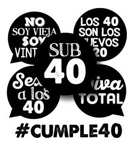 Carteles De Cumpleaños 40 Años Mujer En Mercado Libre Argentina