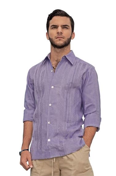 Camisa Guayabera 100% Algodón Tallas 2xl, 3xl, 4xl, 5xl G001