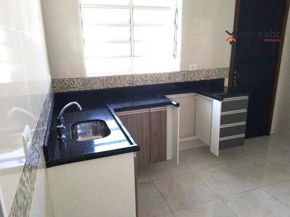 Casa Com 2 Dormitórios E 1 Vaga Para Alugar, 105 M² Por R$ 1.300/mês - Parque Novo Oratório - Santo André/sp - Ca0206