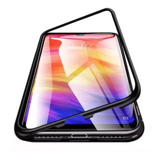 Funda Metal Magnetica Vidrio Samsung A10 A20 A30 M10