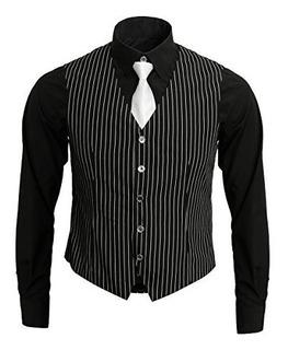 Jila 1920s Ganster Para Hombre Adulto Camisa Chaleco Y Corba