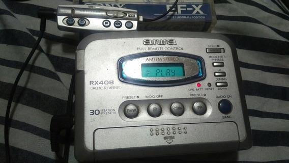Walkman Aiwa Rx 408 Top Top Dos Anos 90 + Controle Remoto