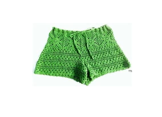 Short Tejido Crochet Casual O Playero