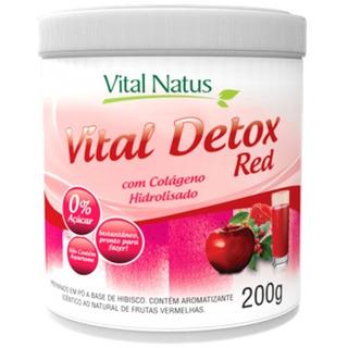 Vital Detox Red (frutas Vermelhas)+colageno 200g Vital Natus