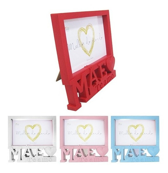 Porta Retrato 10x15 Moldura Plastico Presente Dia Das Mães