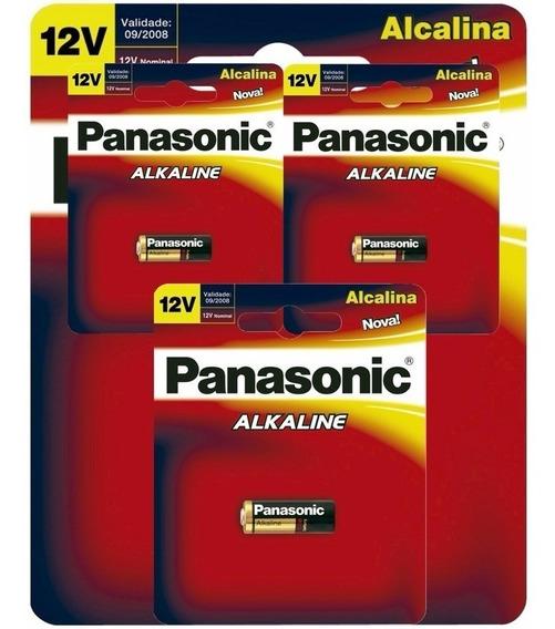 Cx C/10 Pilha Bateria Alcalina 12v P/ Alarme Cr23a Panasonic