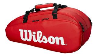 Raqueteira Wilson Tour X6 Vermelha